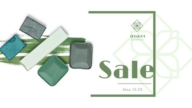 Modèle de visuel Cosmetics Sale with Eyeshadow Palette - FB event cover