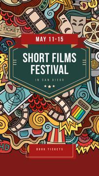 Film Festival Invitation Cinema Attributes Collage