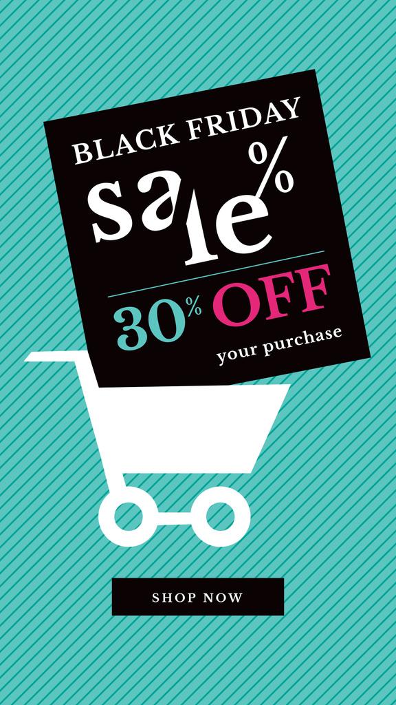 Black Friday Sale Shopping cart —デザインを作成する