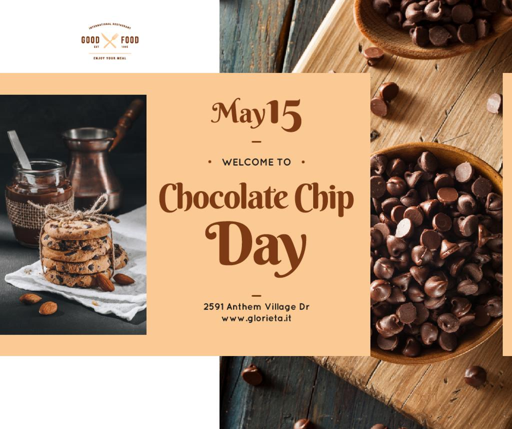 Chocolate chip cookies day celebration — Crear un diseño