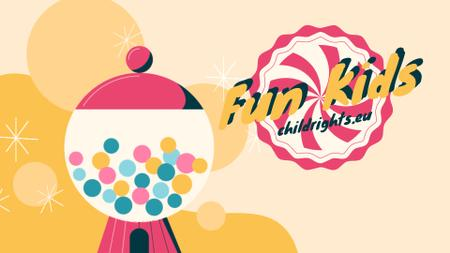 Happy kid with bubblegum Full HD video Design Template