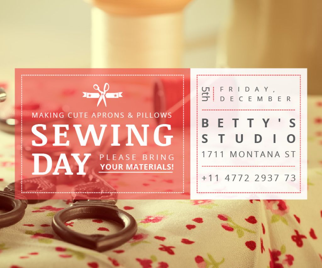 Sewing day event — Crea un design