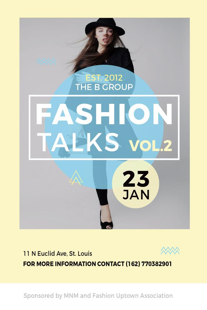 Fashion talks announcement with Stylish Woman — Créer un visuel