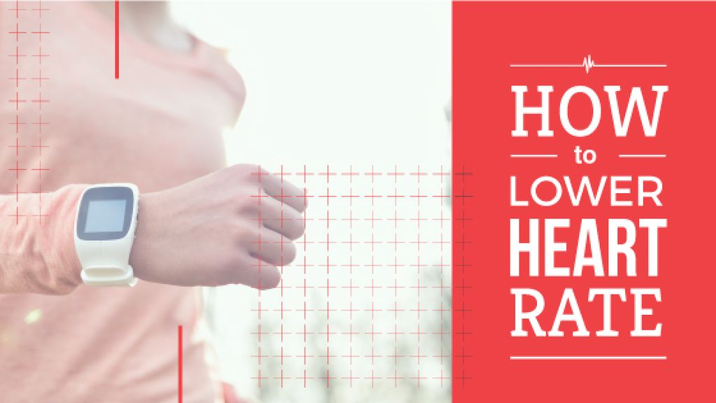 how to lower heart rate poster — Створити дизайн