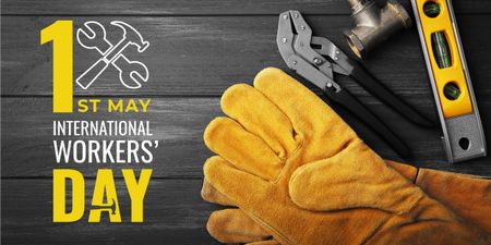 Ontwerpsjabloon van Image van Happy International Workers Day