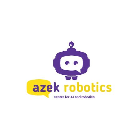 Robotics Center Ad with Cute Android Animated Logoデザインテンプレート