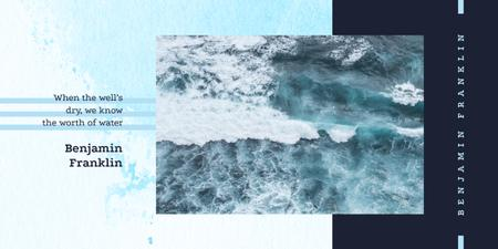 Template di design Blue water surface Image