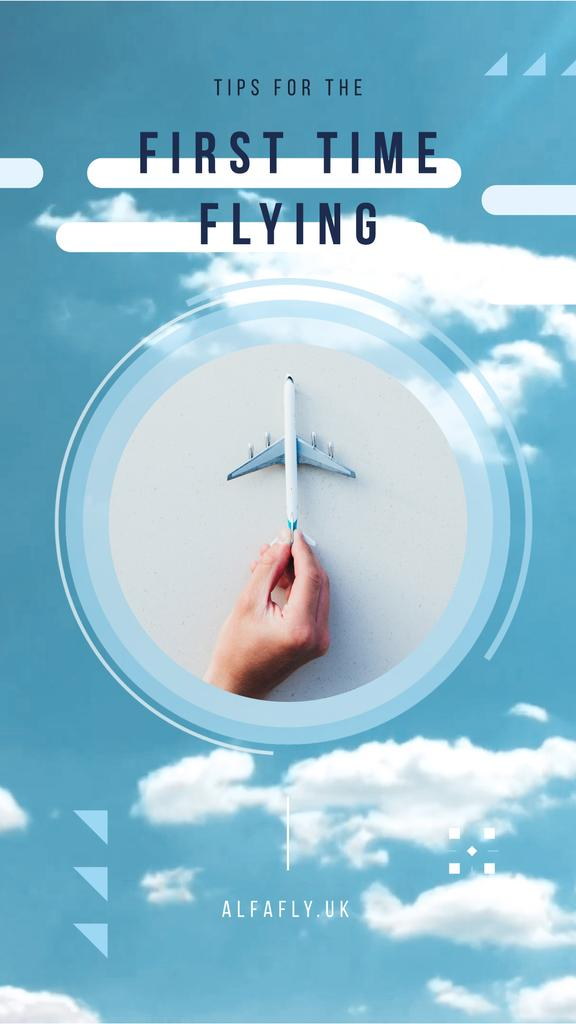 Flying Tips Hand with Toy Plane — Crear un diseño