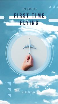 Flying Tips Hand with Toy Plane | Vertical Video Template