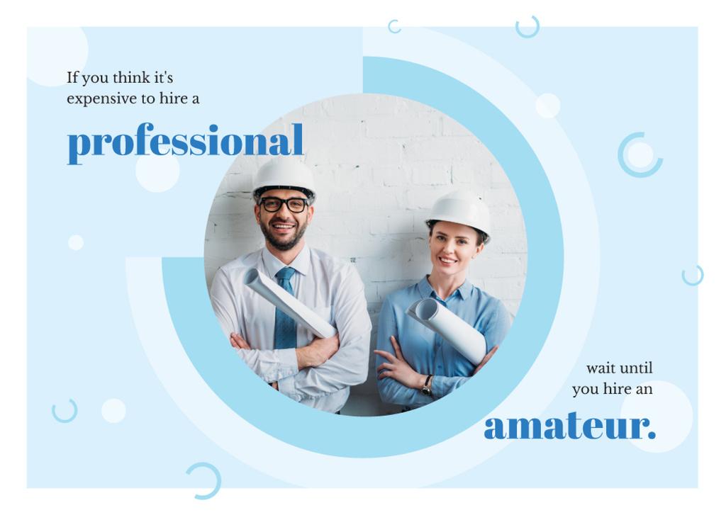 Successful Team of Architects | Postcard Template — Crear un diseño