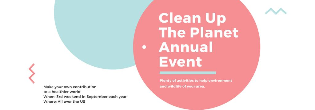 Ecological Event Announcement Simple Circles Frame | Tumblr Banner Template — Create a Design