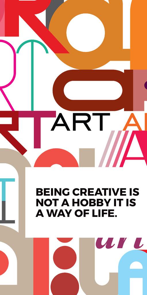 Creativity Quote on colorful Letters — Crear un diseño