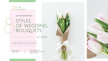 Florist Services Ad Wedding Bouquet with Tulips | Facebook Event Cover Template