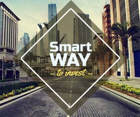 Ontwerpsjabloon van Large Rectangle van smart investments banner