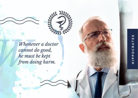 Confident doctor with stethoscope Postcard Modelo de Design