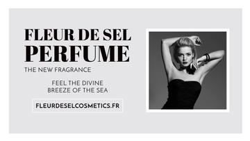 Perfume Ad with Attractive Woman