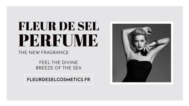 Template di design Perfume Ad with Attractive Woman Youtube