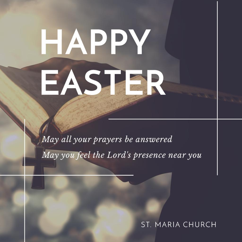 Happy Easter Day in St. Maria church — Create a Design