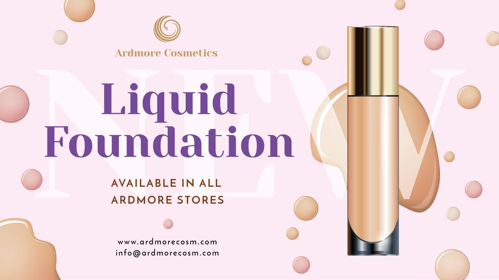 Liquid Foundation Ad with Glass Bottle | Facebook Event Cover Template — Crear un diseño
