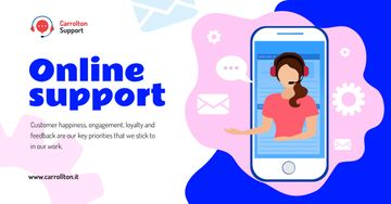 Online Customers Assistant on Phone Screen