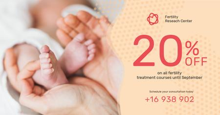Template di design Baby Feet in Parents' Hands Facebook AD