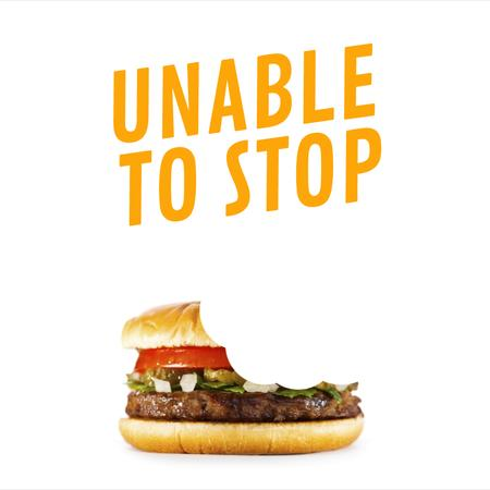 Template di design Biting yummy Burger Animated Post