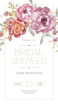 Bridal Shower in Frame with bright flowers