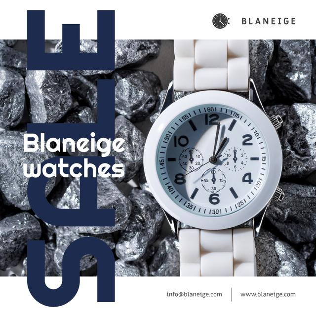 Accessories Sale with White Watch Instagram Design Template