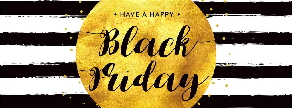 Black Friday Sale in Golden Frame — Створити дизайн