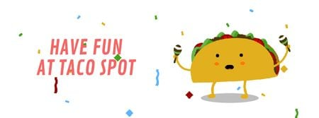 Dancing Taco with Maracas Facebook Video cover Modelo de Design