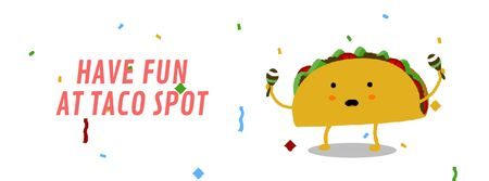 Ontwerpsjabloon van Facebook Video cover van Dancing Taco with Maracas