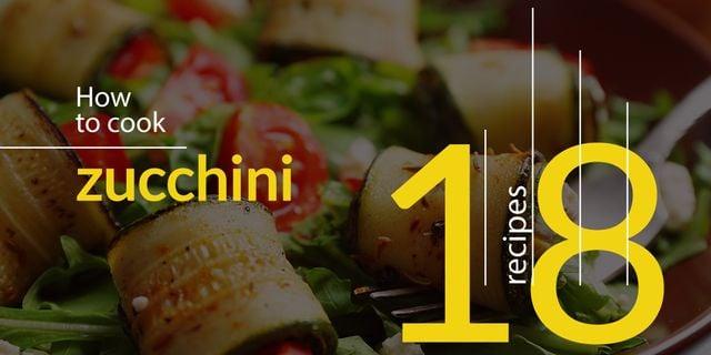 Recipe book for preparing zucchini Twitter Modelo de Design