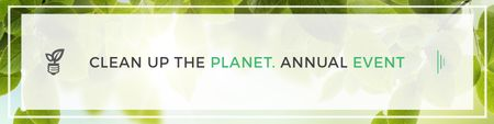 Plantilla de diseño de Clean up the Planet Annual event Twitter