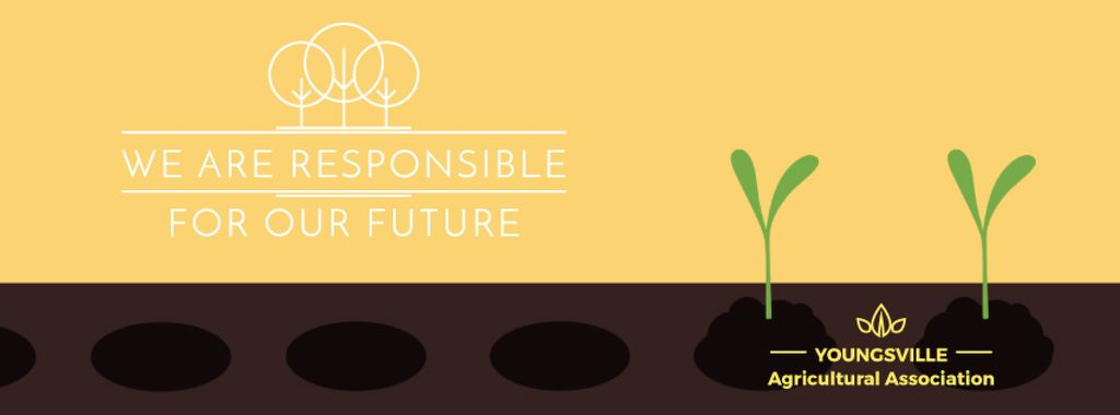 Farmer hands planting seedlings — Crear un diseño
