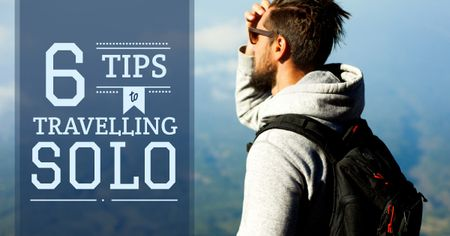 Plantilla de diseño de Tips to travelling Solo Facebook AD