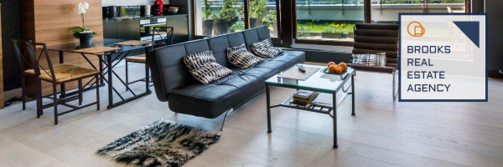 Real Estate Agency Ad Modern Interior — Создать дизайн