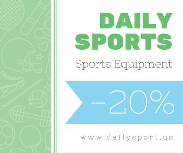 Sports equipment sale on sport icons pattern