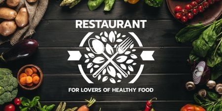 Plantilla de diseño de restaurant for lovers of healthy food poster Image