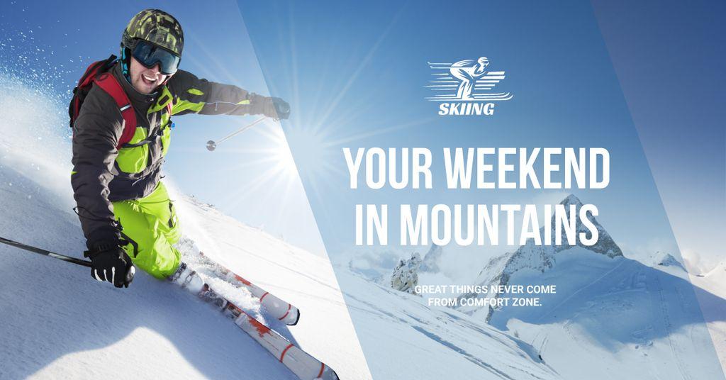 Weekend in mountains banner — Crear un diseño