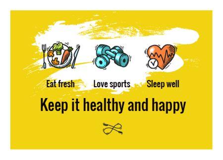 Szablon projektu healthy lifestyle concept  Card