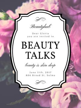 Beauty Event announcement on tender Spring Flowers