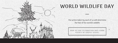 Plantilla de diseño de World wildlife day Facebook cover
