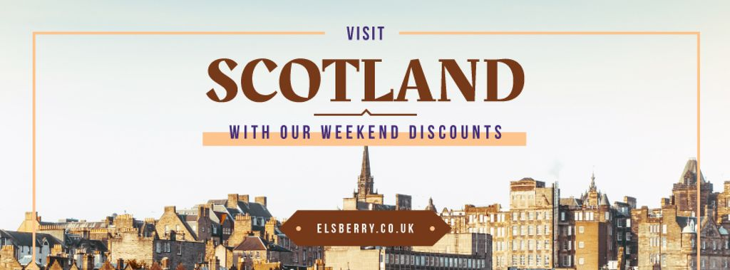 Tour Invitation with Scotland Famous Sights Facebook Cover — Create a Design