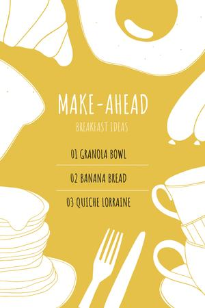 Ontwerpsjabloon van Pinterest van Breakfast dish ideas