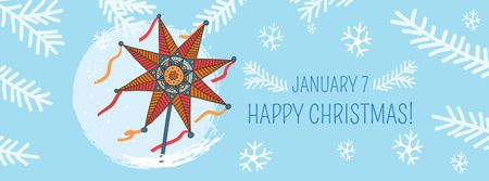 Plantilla de diseño de Happy Christmas with Festive Star Facebook cover