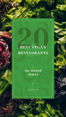 Green salad leaves Instagram Story Modelo de Design