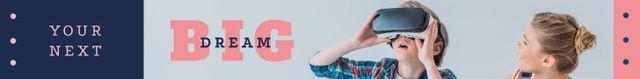 Modèle de visuel Kids Using VR Glasses - Leaderboard