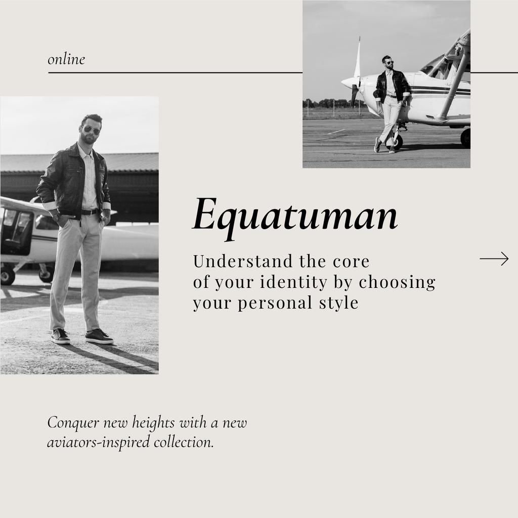 Fashion Offer with Man in Stylish Outfit — Create a Design