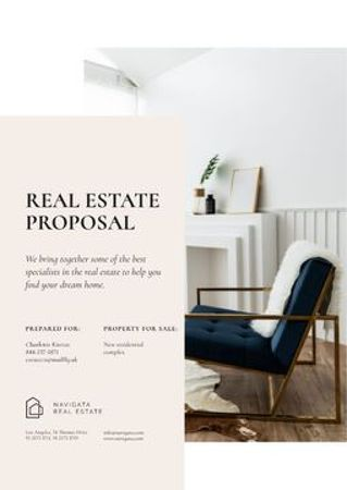 Plantilla de diseño de Real Estate agency services Proposal