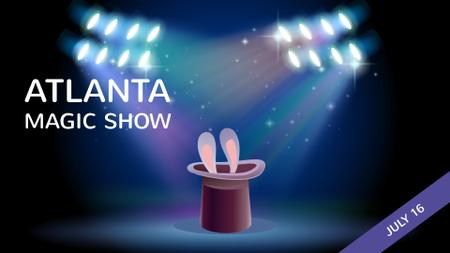 Plantilla de diseño de Magic Show Bunny in Magician Hat Full HD video